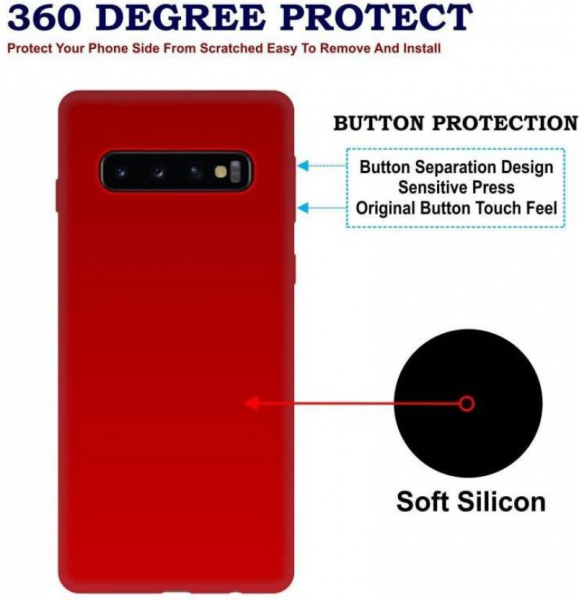 Husa Silicon Premium Pentru Samsung S10 Plus 3