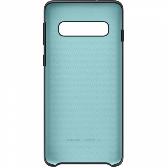 Husa spate Silicone Cover Flexible Gel pentru Samsung Galaxy S10, neagra 3