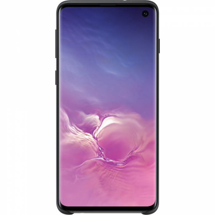 Husa spate Silicone Cover Flexible Gel pentru Samsung Galaxy S10, neagra 1