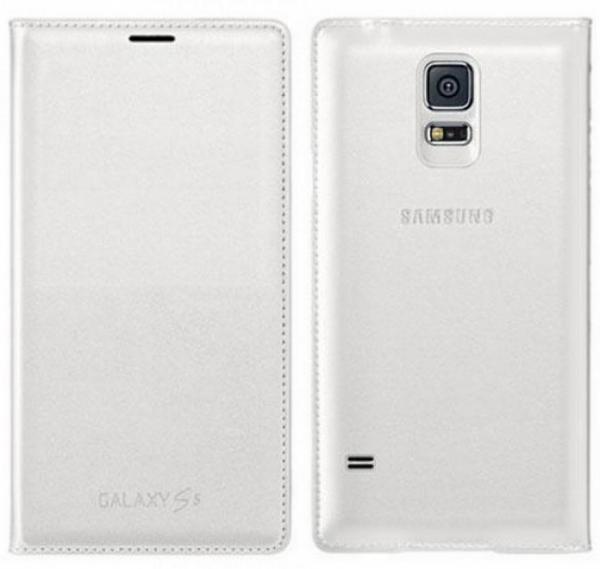Husa Samsung Galaxy S5 Duos G900 EF-WG900BW alba Blister Originala 0