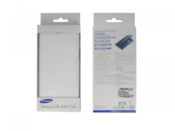 Husa Samsung Galaxy S5 Duos G900 EF-WG900BW alba Blister Originala 2