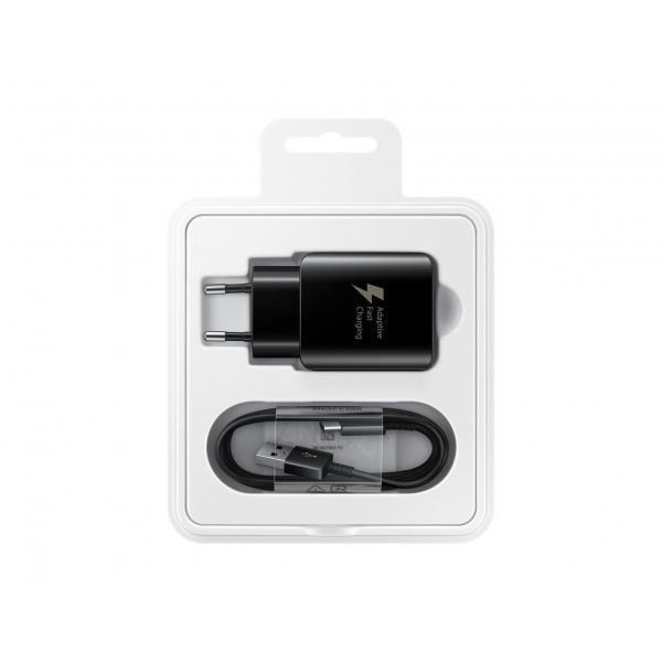 Incarcator Retea cu cablu USB Tip-C Samsung 25w EP-TA300CBEGWW, Fast Charging, Negru, Blister