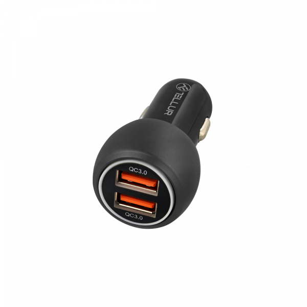 Incarcator auto Tellur Dual USB QC 3.0, 6A, Quick Charge Fast Charging 2