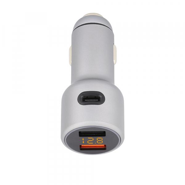 Incarcator auto Tellur cu 3 Porturi + Voltmetru, 5.4A QC 3.0 2
