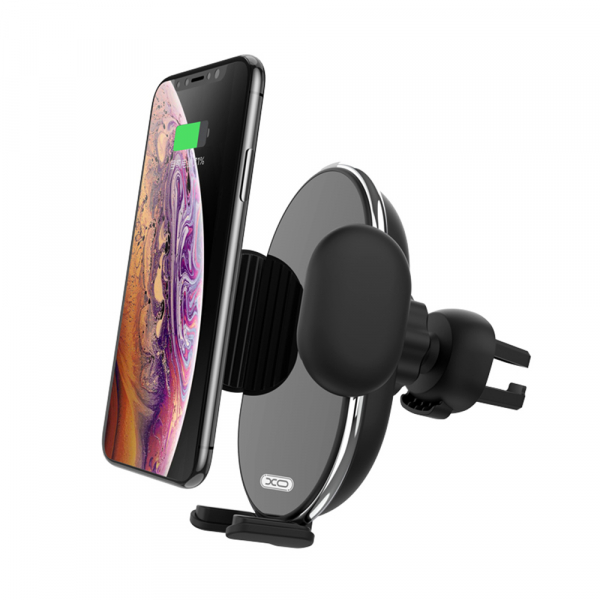 Suport auto cu incarcare wireless XO Car holder with wireless charger WX013 black 10W 0