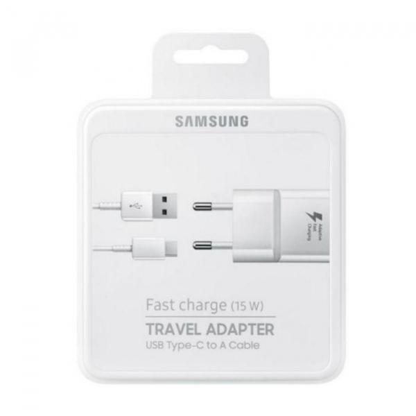 Incarcator retea Samsung  EP-TA20EWEC Fast Charging Alb 0