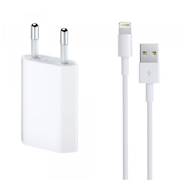 Incarcator retea cu cablu iPhone Lighting  5V / 1A 220V 1