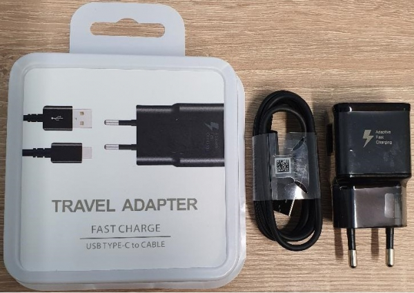 Incarcator retea cu Cablu USB C 25W Fast Charging Negru, Universal 0