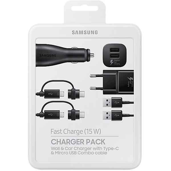 Set incarcare Charger Pack Samsung , Incarcator auto + incarcator retea + 2 cabluri 0