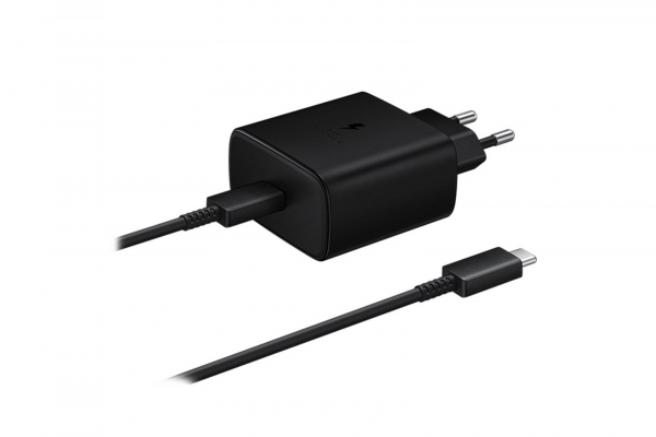 Incarcator Retea cu cablu USB Tip-C Samsung PD 45W Super Fast Charge, 1 X USB, Negru, Blister EP-TA845XWEGWW Note 10 0