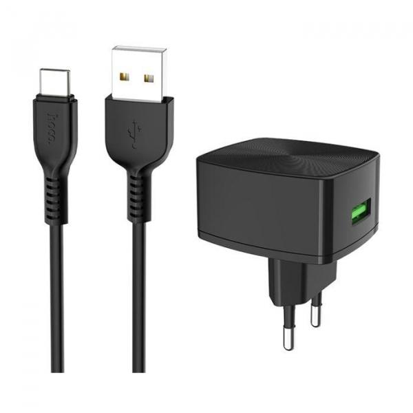 Incarcator retea cu cablu USB Type C Quick Charge 1.5A 1x USB plug QC3.0 + Type-c cable C70A 1