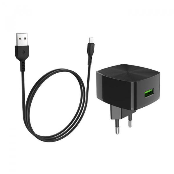 Incarcator retea cu cablu USB Type C Quick Charge 1.5A 1x USB plug QC3.0 + Type-c cable C70A 3