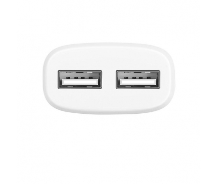 Incarcator retea iPhone Dual USB Lightning iPhone HOCO C12 2.4A Alb Blister Original 1