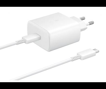 Incarcator Retea cu cablu USB Tip-C Samsung PD 45W Super Fast Charge, 1 X USB, Alb, Blister EP-TA845XWEGWW Note 10 [0]
