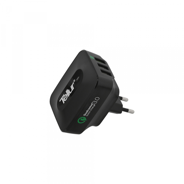 Incarcator retea 3 usb, QuickCharge  QC 3.0 – 3 USB ports 5A (1 x QC 3.0 & 2 x USB) 3