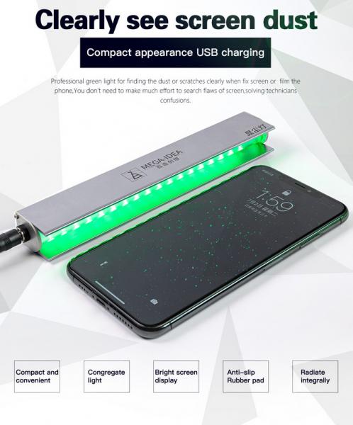 Lampa cu lumina verde pentru detectarea prafului, pentru refurbish 0