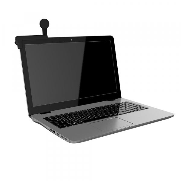Suport magnetic de telefon pentru ecran laptop Tellur MDM, Negru 3