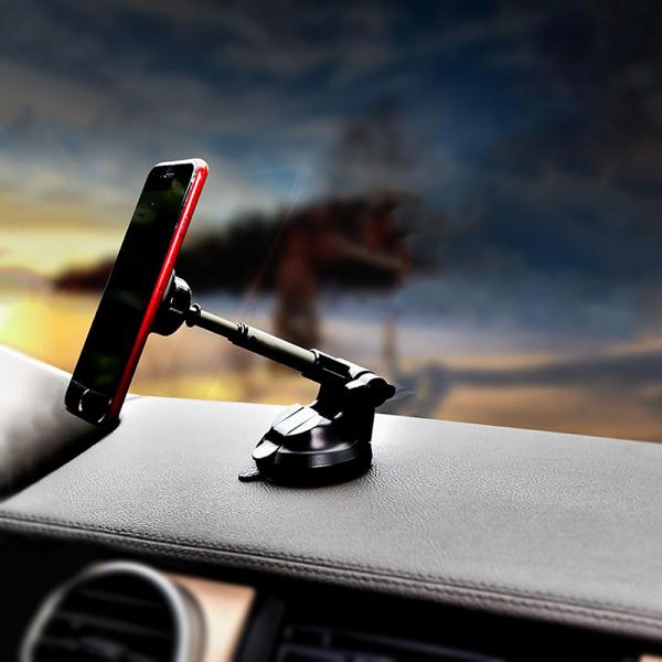 Suport Auto magnetic universal de telefon Tellur MUM, ventuza, telescopic, negru 4