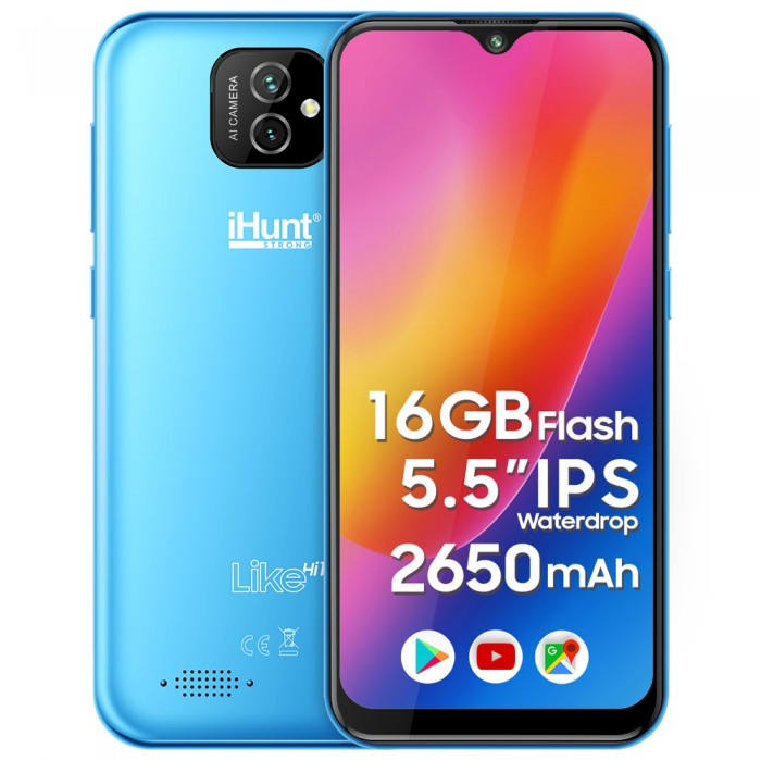 "Telefon iHunt Like Hi10 Light Blue , 3G ,Display 5.5"" , Memorie 16gb, 1gb Ram [0]"