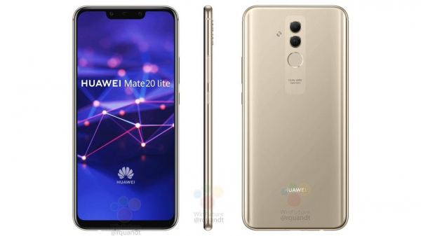 Telefon mobil Huawei Mate 20 Lite, Dual SIM, 64GB, 4G Gold 0