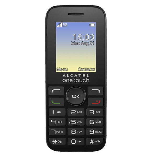 Telefon Mobil 3G Alcatel 20.35 Negru, Digi RDS Digi Mobil 0