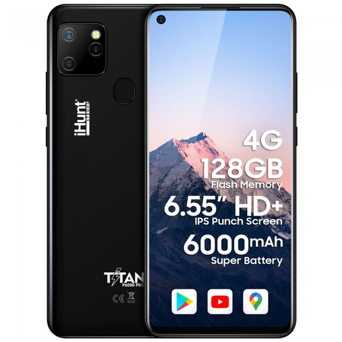 """Telefon Mobil iHunt Titan P6000 Pro 2021 Black, Display 6.55"""", 4gb Ram, Camera 16Mpx [0]"""