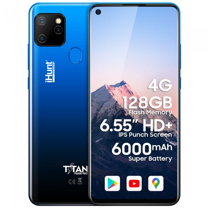 """Telefon Mobil iHunt Titan P6000 Pro 2021 BLUE, Display 6.55"""", 4gb Ram, Camera 16Mpx [0]"""
