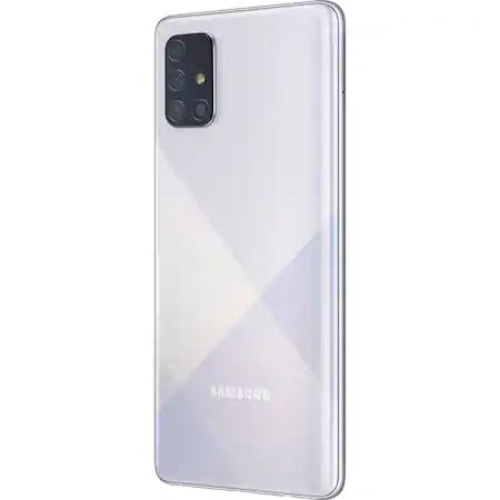 Telefon mobil Samsung Galaxy A71, Dual SIM, 128GB, 6GB RAM, 4G, Silver 2