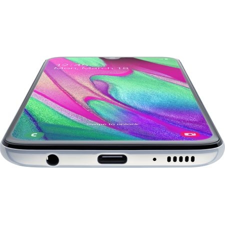Telefon mobil Samsung Galaxy A40, Dual SIM, 64GB, 4G, Alb [3]