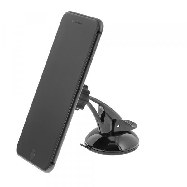 Suport auto pentru telefon Tellur, magnetic, montare geam/bord cu ventuza, Negru [2]
