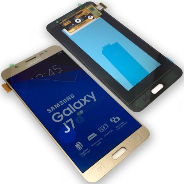 Ecran Display cu touchscreen Samsung Galaxy J710f, j7 2016, Gold 0
