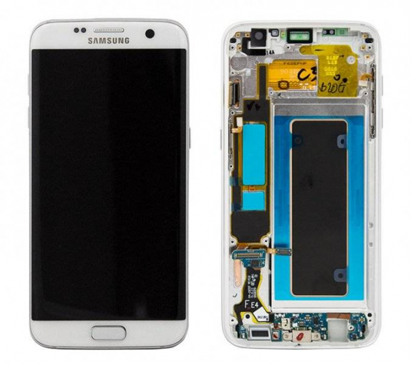 Ecran Display cu touchscreen Samsung Galaxy S7 Edge G935f, Alb Original cu rama 0