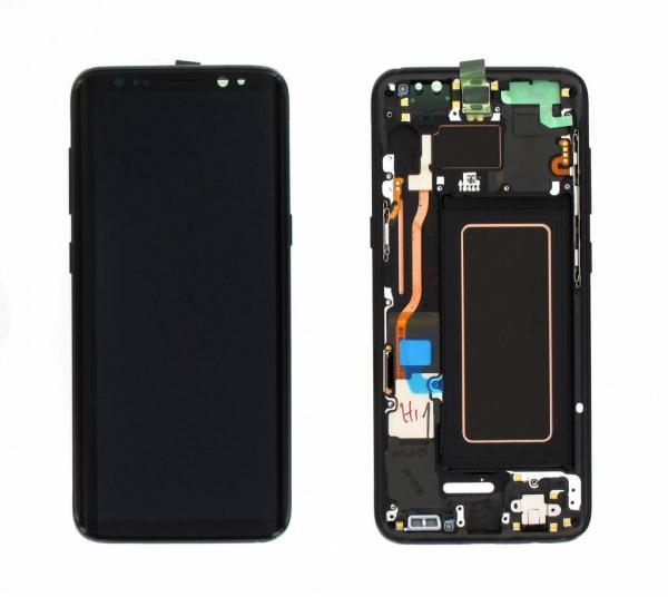 Ecran Display cu rama Samsung Galaxy S8 G950f Negru FTVA [0]