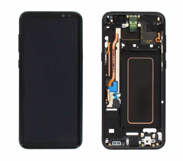 Ecran Display cu rama Samsung Galaxy S8 Plus G955f Negru Reconditionat [0]