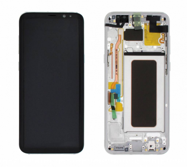 Ecran Display cu rama Samsung Galaxy S8 Plus G955f Silver 0