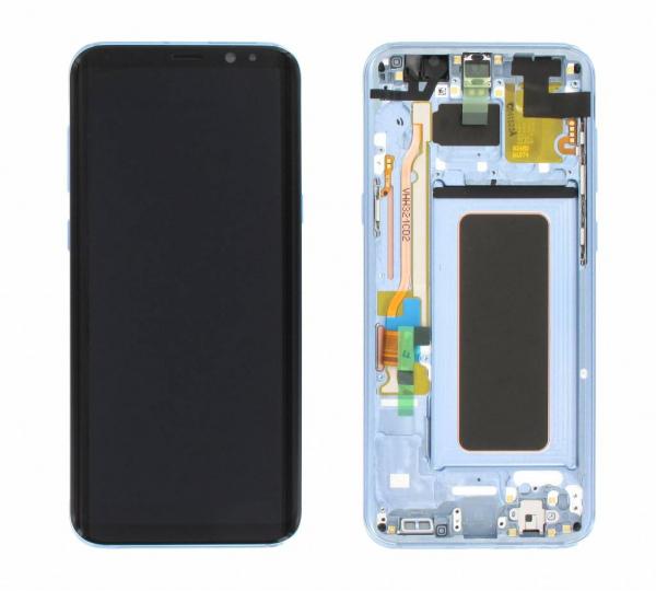 Ecran Display cu touchscreen si rama Samsung Galaxy S8 Plus G955f Blue [0]