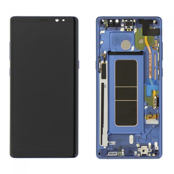 Display cu touchscreen si rama Samsung Galaxy Note 8 N950 Blue [0]