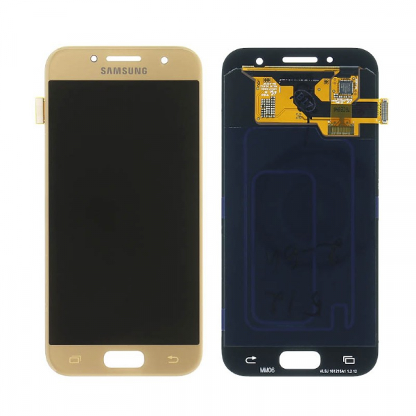 Ecran Display cu touchscreen Samsung Galaxy A3 2017 A320f Gold 0