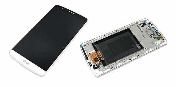 Display cu rama LG G3 Swap original alb [0]