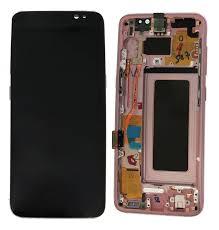 Ecran Display cu touchscreen si rama Samsung Galaxy S8 G950f Pink Roz 0