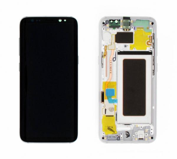 Ecran Display si rama Samsung Galaxy S8 G950f Silver 0