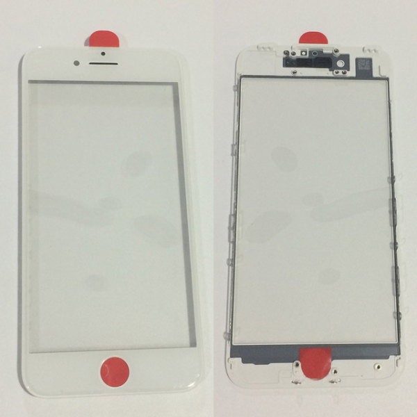 Geam cu rama si Oca pentru Iphone 8 Alb [0]