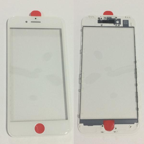 Geam cu rama si Oca pentru Iphone 8 Plus Alb [0]