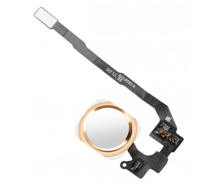 Buton home cu senzor si banda Apple iPhone 5s gold auriu 0