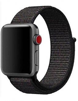 Curea bratara Nylon Negru pentru Apple Watch 42mm 0