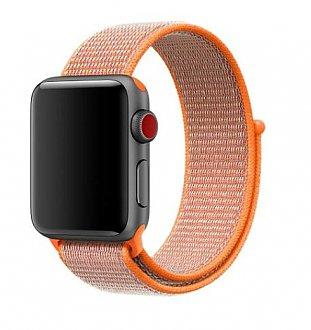 Curea bratara Nylon Orange pentru Apple Watch 42mm 0