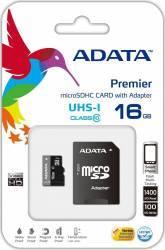 Card de memorie ADATA Premier microSDHC UHS-I U1 16GB Class10+Ad 0