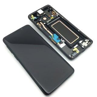Ecran Display Samsung Galaxy S9 G960f Negru Reconditionat, cu Burn 0