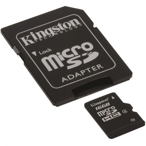 Card memorie 16GB MicroSD™ HC Clasa 4 – cu adaptor SD, Kingston SDC4/16GB 0