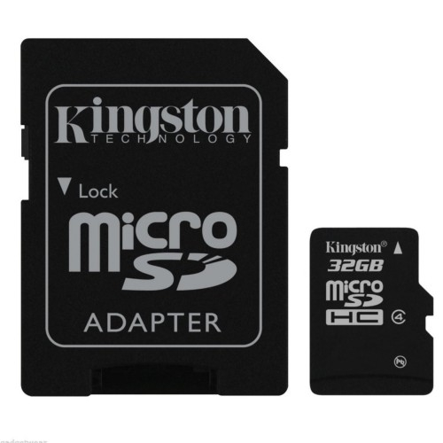 Card memorie 32GB MicroSD™ HC Clasa 4 – cu adaptor SD, Kingston SDC4/32GB 0
